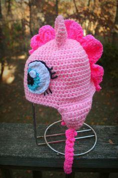 My Little Pony Inspired Pinkie Pie Crochet Hat by Allurability