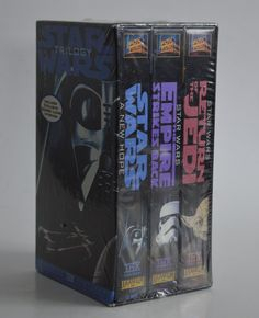 Sealed Star Wars Original Trilogy Box Set VHS Theatrical Version George Lucas Interview, Digitally Mastered, New Old Stock by Retrorrific on Etsy Star Fox, Original Trilogy, George Lucas, New Fox, The Empire Strikes Back, A New Hope, Seal, Interview, Star Wars