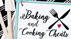 Free Printable Cooking and Baking Cheat Sheets - Baking and Cooking Cheat Sheets Baking and Cooking Cheat Sheets Baking and Cooking Cheat Sheets Wel - Cauliflower Patties, Bread Dumplings, Substitute For Egg, Cheat Sheets, How To Cook Pasta, Food Hacks, Cheating, Cooking Tips, Great Recipes