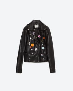 Image 8 of FAUX LEATHER BADGE JACKET from Zara