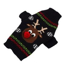 1Pcs Red Nose Deer Christmas Pet Sweater Cat Dog Clothing Autumn Winter Clothes Xmas Jumpsuit Knit Sweaters(China (Mainland))