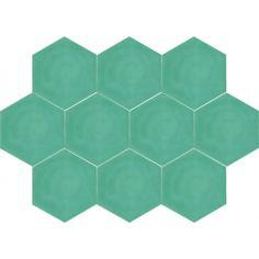 Moroccan Encaustic Cement Hexagonal Tile Artic-09-hex   £ 1.63   Best Tile UK   Moroccan Tiles   Cement Tiles   Encaustic Tiles   Metro Subw...