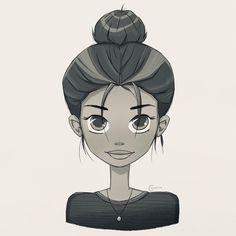 #illustration #illustrationart #digitalart #drawing #draw #ipadpro #procreate #art #painting #colours #blackwhite #comic #girl #face #sketch #fun #bun #giveitatry Face Sketch, Illustration Art, Illustrations, Girl Face, Digital Art, Colours, Black And White, Comics, Drawings