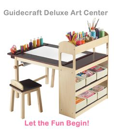 Guidecraft Deluxe Art Center - Awesome! Save 15% on Select Guidecraft Items with Code GUIDECRAFT15! Valid through 12/31.