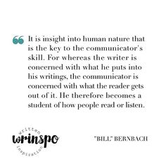 """// Writers' writing tips – William """"Bill"""" Bernbach //""""It is insight into human nature that is the key to the communicator's skill. For whereas the writer is concerned with what he puts into his writings, the communicator is concerned with what the reader gets out of it. He therefore becomes a student of how people read or listen."""" The advertising legend Bill Bernbach might have separated writers from communicators, but as a copywriter-to-be I think all writers should be more occupied with…"""