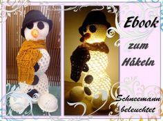 Schneemann - beleuchtete Weihnachtsdeko