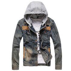 Fashion-VINTAGE-Mens-Denim-Cowboy-Jeans-Hooded-Jacket-Slim-Coat-Casual-Outwear