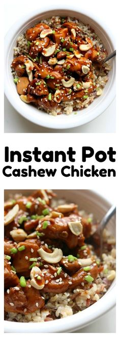 Instant Pot Cashew Chicken–this cashew chicken is just as good as your favorite Chinese restaurant.  It's super easy and flavorful and it's all made in the comfort of your own kitchen. The instant pot speeds up the process and helps get dinner on the table in minutes.