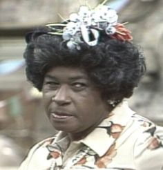 """Aunt Esther (LaWanda Page) from """"Sanford and Son"""". I loved it when she would call Redd Foxx a """"you old beedy, fish-eyed fool"""", and """"watch it, sucka! Redd Foxx, Jw Humor, Sanford And Son, Old Tv Shows, Classic Tv, The Good Old Days, Funny People, Ghetto People, Happy People"""