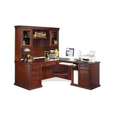 Found it at Wayfair - Huntington Club L-Shape Executive Desk with Hutch