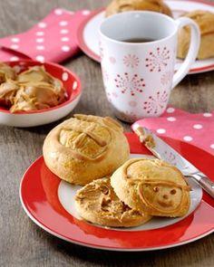 Sinterklaas ontbijtbroodjes met speculoospasta