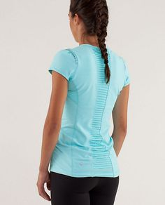 Star Runner SS  running shirt with reflective details for night running  lower back hem for protection from breezes up spine and booty modesty  mesh at armpits for sweat evaporation