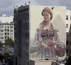 Aryz Nuovo Murale A San Francisco, Stati Uniti d'America - StreetArtNews