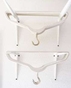 16 Clever Hacks That Will Organize Your Laundry Situation for You Shelf brackets make great hanger holders.Storing empty hangers in the closet might seem to make Laundry Room Remodel, Laundry Room Organization, Laundry Room Design, Organization Hacks, Organized Laundry Rooms, Ikea Laundry Room, Organising Ideas, Clothing Organization, Laundry Sorter