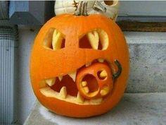Funny pumpkin carving
