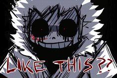 Cross Sans and Chara amino apps Undertale Gif, Undertale Comic Funny, Fnaf Drawings, Undertale Drawings, Yandere, Cross Sans, Anime Meme Face, Little Misfortune, Gifs