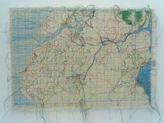 GB Map Fabrics | Alison Stewart Artist