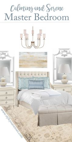 Calming and Serene Master Bedroom Mood Board