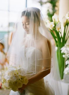 Classic Sheer Cathedral Length Veil | photography by http://www.esthersunphoto.com/