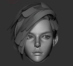 Eye Drawing Tutorials, Digital Painting Tutorials, Drawing Tips, Digital Paintings, Female Character Design, Character Modeling, 3d Modeling, 3d Character, Zbrush Character