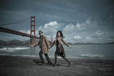 cinematic engagement shoot in San Francisco