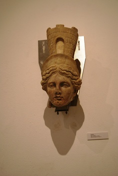 Head of Fortuna, from Italica. Archaeological Museum of Seville