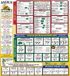 jacks fruit and meat market weekly ad dec 17 23 2017 https