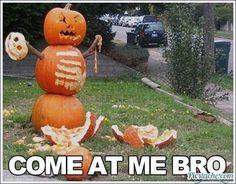 The mad pumpkin!