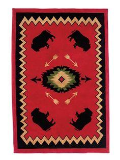 Buffalo Lodge Wool Rug