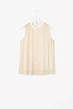 COS | High-neck pleated top