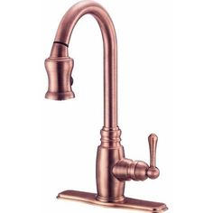 Buy the Danze Antique Copper Direct. Shop for the Danze Antique Copper Pull Down Spray Kitchen Faucet From the Opulence Collection and save. Copper Kitchen Faucets, Copper Faucet, Pull Out Kitchen Faucet, Bar Faucets, Bathroom Faucets, Sinks, Bath Fixtures, Kitchen Fixtures, Kitchen Hardware