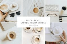 Coffee Stock Photo Bundle for Insta | High-Quality Stock Photos ~ Creative Market Coffee Stock, Coffee Photos, Place Card Holders, Stock Photos, Drink, Creative, Beverage, Drinking