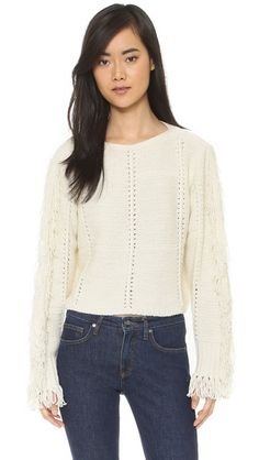 3.1 Phillip Lim Cropped Pullover with Fringe Details