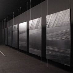 "Striations | Shades of Black | Soulages. 'When light is reflected on black, it transforms and transmutes it"". From the darkness to the brightness, Soulages the master. Outrenoir Outrelumiere. There is a beautiful exhibition (not this one) at Galerie Karsten Greve in Paris _____________________________________________ #PierreSoulages #outrenoir #art #abstract #contemporaryart #blackpaintings #light #outrenoir #abstractexpressionist #beautiful #artinstallation #Soulages #backtoart"