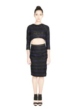 This fabulous wave embroidered black foil printed cotton canvas crop top by Morphe features black and blue stripes with lycra panelled shoulder detailing. Made in India. New Romantics, Morphe, Party Fashion, Blue Stripes, Printed Cotton, Zip Ups, High Waisted Skirt, Personal Style, Fashion Accessories