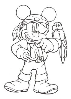 Pirate Mickey Printable Coloring Pages | Coloring Pages Trend