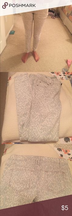 Target mossimo cheetah print jeans Target mossimo brand light blue and cream/cheetah print jeans Mossimo Supply Co Jeans Skinny