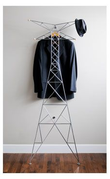 Hahaha thats funny.  Transmission tower coat rack.  Kind of awesome.
