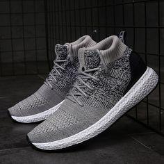 f7249f9a9b02 US$ 31.09 - Men Knitted Fabric Slip Resistant Sport Soft Casual Sneakers  Adidas Csukák,. Adidas CsukákFérfi LábbelikCipő