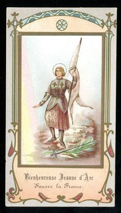 OLD HOLY CARD OF STE JOAN OF ARC
