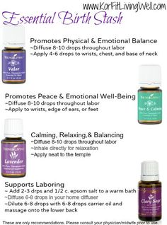 Essential Oils for Labor and Delivery - Kôr Fit & Living Well Essential Oils For Pregnancy, Yl Essential Oils, Young Living Essential Oils, Essential Oil Blends, Doula, Doterra, Pregnancy Labor, Pregnancy Oils, Just In Case