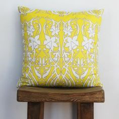 Coveting this Deco Daffodil Yellow Accent Cushion from Eco Chic