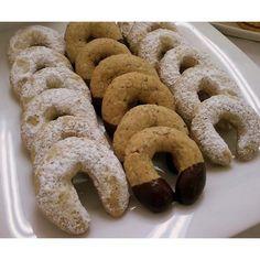 Galletas de Nuez Tipo Aleman Brownie Cookies, Cake Cookies, Sugar Cookies, Baking Recipes, Cookie Recipes, Dessert Recipes, Mexican Cookies, Gateaux Cake, Coconut Cookies