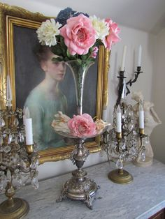 Victorian Silver Epergne Centerpiece Vase LARGE by VannasArmoire