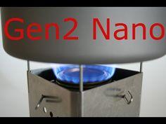 Gen2 Folding Firebox Nano Ultralight Backpacking Stove