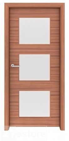 Sapele Mahogany is very dense and durable, making it a choice natural material for a door    #mahogany #doors #interior