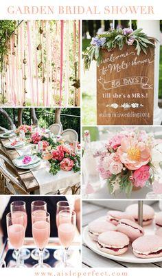 Garden Bridal Shower Inspiration via Aisle Perfect