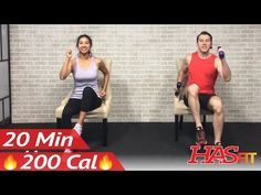 20 Min Chair Exercises Sitting Down Workout - Seated Exercise for Seniors, Elderly, & EVERYONE ELSE - YouTube