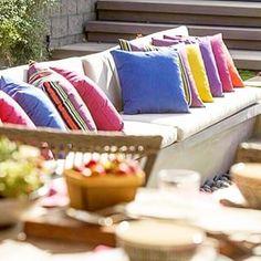 almofadas,almofadas coloridas,regatta tecidos,varanda, area externa