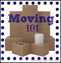 Moving 101: Packing Tips  No we are not planning to move again anytime soon, but there are some really good tips in here that we could have benefited from!